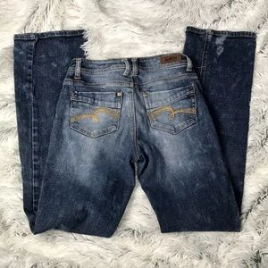 Justice Youth Denim Acid Wash Jeans